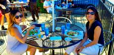 Friends enjoying lunch at Bentley's Pancake House & Restaurant in Wood Dale