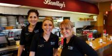 Friendly servers at Bentley's Pancake House & Restaurant in Wood Dale
