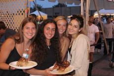 Friends enjoying The Big Greek Food Fest in Niles