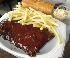 The famous BBQ Ribs at Billy Boy's Restaurant in Chicago Ridge