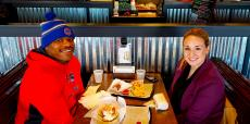 Couple enjoying lunch at Billy Boy's Restaurant in Chicago Ridge