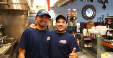 Hard working kitchen crew at Billy Boy's Restaurant in Chicago Ridge