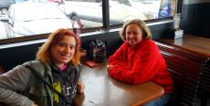 Friends enjoying lunch at Billy Boy's Restaurant in Chicago Ridge