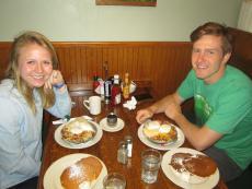 Customers enjoying breakfast at Billy's Pancake House in Palatine