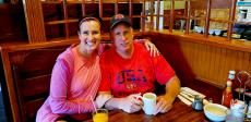 Couple enjoying lunch at Billy's Pancake House in Palatine