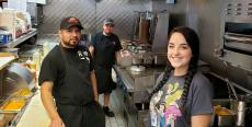 Hard working kitchen crew at Brandy's Gyros in Chicago