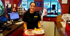 Service with a smile at Brandy's Gyros in Hanover Park