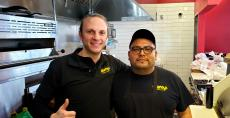 Hard working kitchen staff at Brandy's Gyros in Schaumburg
