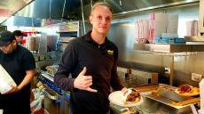 Hard working kitchen crew at Brandy's Gyros in Schaumburg