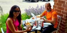 Couple enjoying lunch at Brandy's Gyros in Schaumburg