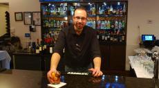 Friendly bar server at Brousko Authentic Greek Cuisine in Schaumburg