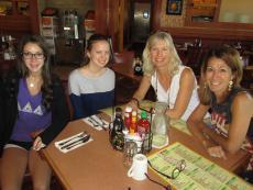 Enjoying breakfast at Butterfield's Pancake House in Northbrook