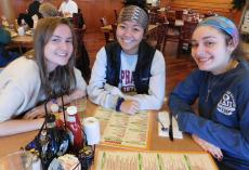 Friends enjoying breakfast at Butterfield's Pancake House & Restaurant in Northbrook
