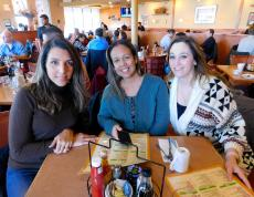 Friends enjoying lunch at Butterfield's Pancake House & Restaurant in Northbrook