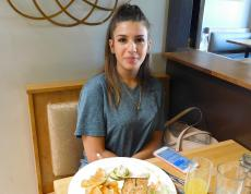 Customer enjoying lunch at Butterfield's Pancake House & Restaurant in Oakbrook Terrace