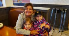 Family enjoying lunch at Butterfield's Pancake House & Restaurant in Wheaton