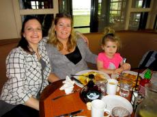 Enjoying breakfast at Butterfield's Pancake House & Restaurant in Wheaton