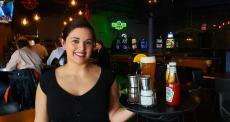 Friendly server at Cafe Mistiko in Deerfield