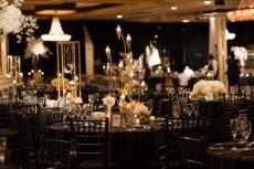 Beautifully decorated ballroom at Carlisle Banquets in Lombard