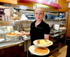 Serving breakfast at Christy's Restaurant & Pancake House in Wood Dale