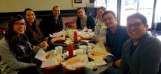 Happy customers enjoying lunch at Craving Gyros in Lake Zurich