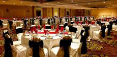 Spacious ballroom at D'Andrea Banquets & Conference Center in Crystal Lake