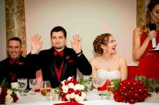 Happy wedding party at D'Andrea Banquets & Conference Center in Crystal Lake