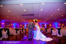 Happy newlyweds at D'Andrea Banquets & Conference Center in Crystal Lake