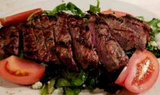 New York Strip Steak Salad at Demetri's Greek Restaurant in Deerfield