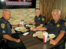 The community's finest enjoying lunch at Dengeo's Restaurant in Skokie