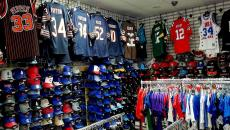 Sample of quality sports gear at Dino's Sports Fan Shop in Glenview