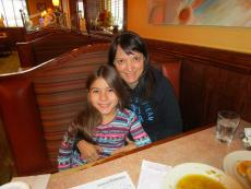 Mom and daughter enjoying lunch at Downers Delight Pancake House & Restaurant in Downers Grove