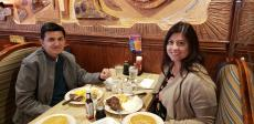 Couple enjoying breakfast at Downers Delight Pancake House & Restaurant in Downers Grove