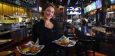 Friendly server at Draft Picks Sports Bar in Naperville