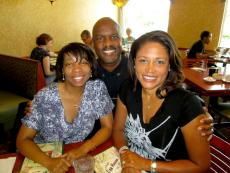 Friends enjoying lunch at Egg Haven Pancakes & Cafe in DeKalb