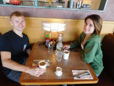 Customers enjoying coffee at Butterfield's Restaurant in Naperville