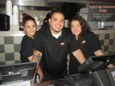 Friendly crew at Dengeos Restaurant in Skokie