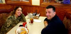 Couple enjoying lunch at George's Family Restaurant in Oak Park