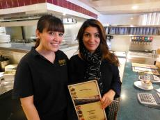 Friendly staff at George's Family Restaurant in Oak Park