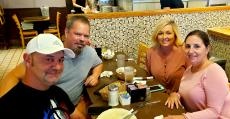 Loyal customers enjoying lunch at George's Family Restaurant in Oak Park