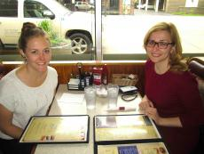 Friends enjoying lunch at George's Family Restaurant in Oak Park