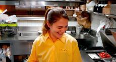 Friendly server at Golden Brunch Restaurant in Arlington Heights