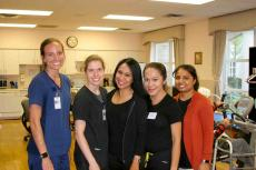 Friendly staff at the Greek American Rehabilitation & Care Centre in Wheeling