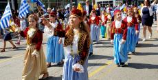 Young participants at the Greek Independence Day Parade in Chicago