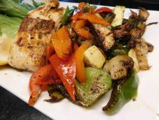 Grilled Salmon (Grecian Style) at Xando Cafe in Hickory Hills