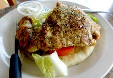 Greek-Style Chicken Pita at Gyros Express in Villa Park