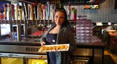 Friendly server at HOME Restaurant & Nightclub in Arlington Heights