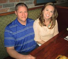 Couple ready to enjoy dinner at Jamesons Charhouse Arlington Heights