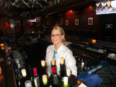 Friendly bar server at Jameson's Charhouse in Arlington Heights