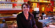 Friendly bar server at Jimmy's Charhouse in Libertyville
